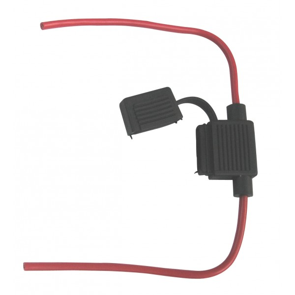Standard Blade In-Line 30A Fuse Holder Wired