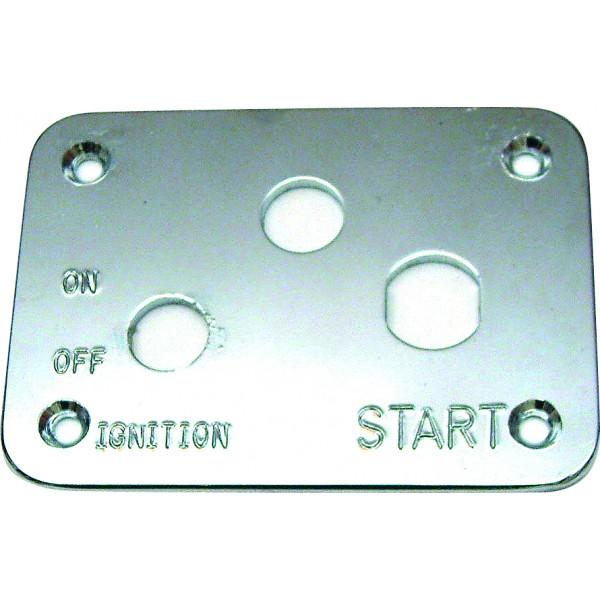 3 Hole Polished Ally Start Switch Panel