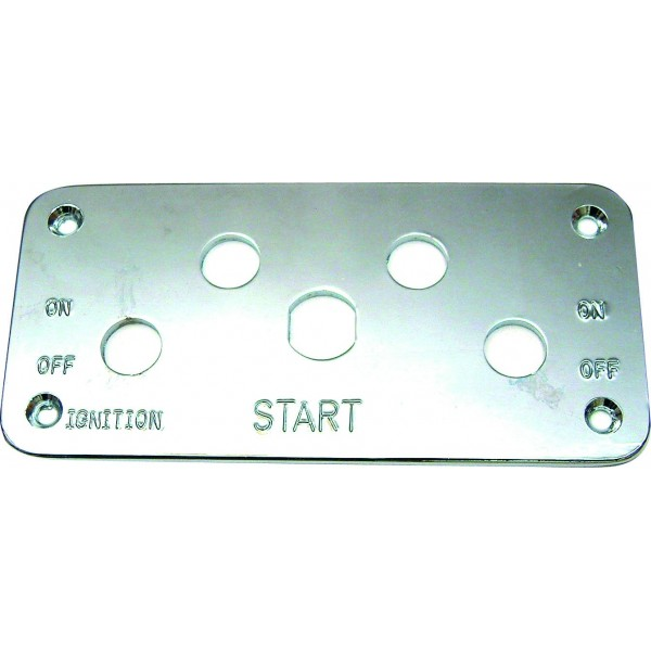 5 Hole Polished Ally Start Switch Panel