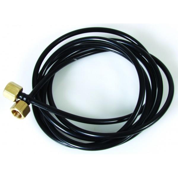 Oil Pressure Gauge Black Nylon Pipeline 1x Cone End 1x Flat End (Select Length)