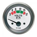 TIM 12 Volt Voltmeter 52mm (Select Colour)