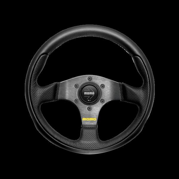 MOMO S/W Team - Black Leather Ø300mm
