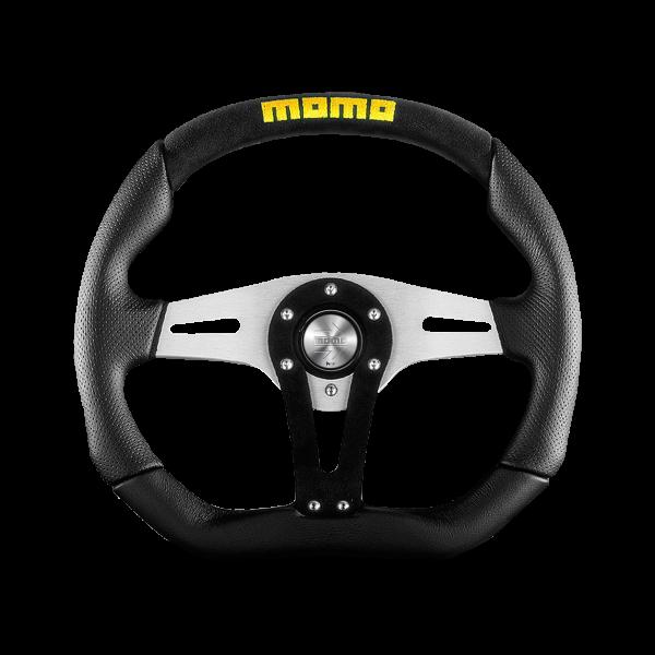 MOMO S/W Trek - Black Alcantara/Black LTH Ø350mm