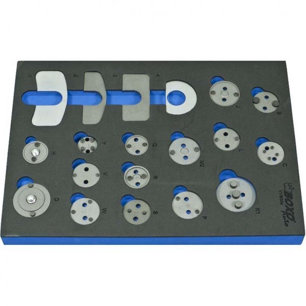 19 Piece Brake Caliper Wind Back Add-On Adaptors Kit