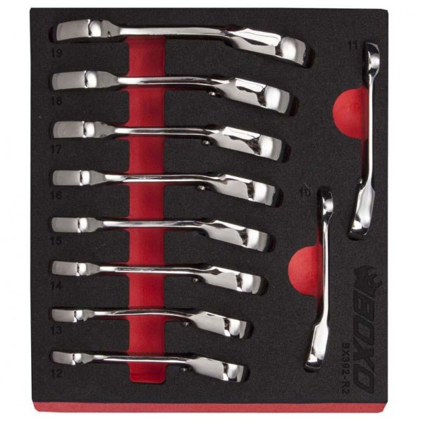 10 Piece Stubby Reversible Wrench Set