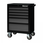 """26"""" 6 Drawer Roll Cabinet With Drawer Trim Pack Black Body (Select Trim Colour)"""