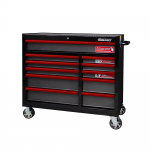 """41"""" 11 Drawer Roll Cabinet With Drawer Trim Pack Black Body (Select Trim Colour)"""
