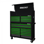 """53"""" 20 Drawer Toolbox Stack With Drawer Trim Pack Black Body (Select Trim Colour)"""
