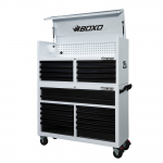 "53"" 20 Drawer Toolbox Stack With Drawer Trim Pack White Body (Select Trim Colour)"