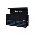 """53"""" 8 Drawer Top Box With Drawer Trim Pack Black Body (Select Trim Colour)"""