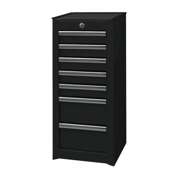 7 Drawer Side Cabinet - Black